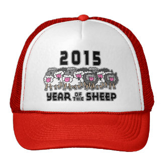 Chinese New Year of The Sheep 2015 Mesh Hat