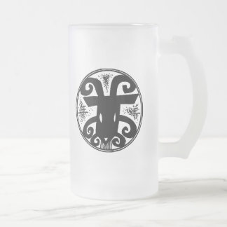 Chinese New Year of The Sheep Frosted Glass Mug