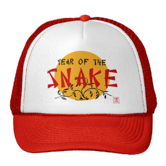 Chinese New Year of The Snake Trucker Hats