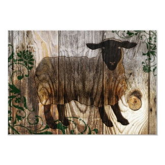 chinese new year of the wooden sheep 2015 9 cm x 13 cm invitation card