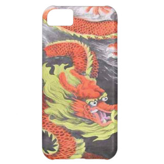 Chinese New Year, Orange Chinese dragon iPhone 5C Case