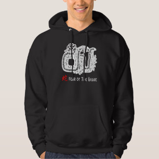 Chinese New Year Paper Cut Snake Hooded Sweatshirts