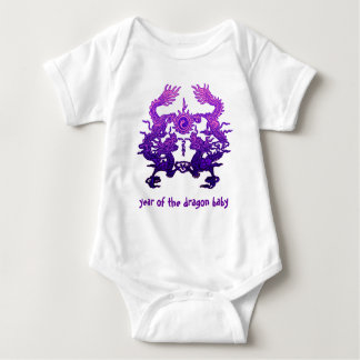 CHINESE NEW YEAR Purple Dragons Baby Bodysuit
