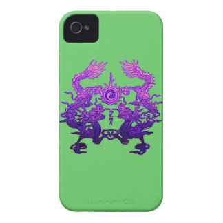CHINESE NEW YEAR Purple Dragons iPhone 4 Case