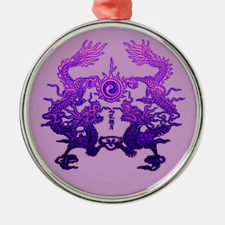 CHINESE NEW YEAR Purple Dragons Christmas Ornament