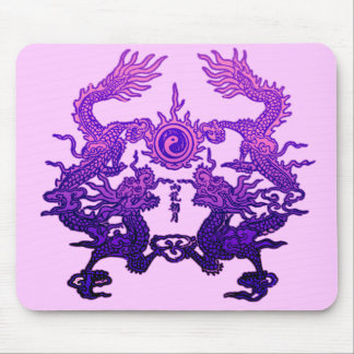 CHINESE NEW YEAR Purple Dragons Mousepad