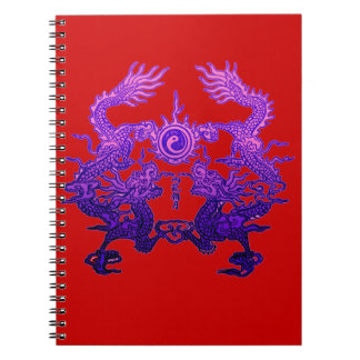 CHINESE NEW YEAR Purple Dragons Notebook