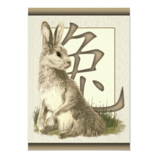Chinese New Year Rabbit 2011 Party Invitations