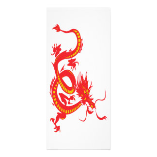 Chinese New Year Red Dragon Full Colour Rack Card