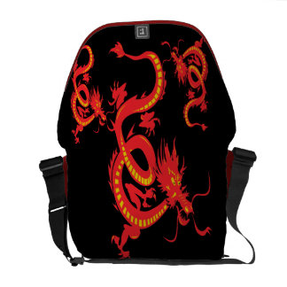 Chinese New Year Red Dragon Messenger Bag