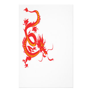 Chinese New Year Red Dragon Stationery