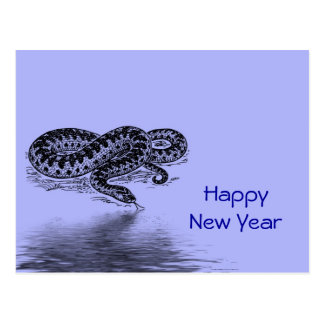 Chinese New Year Vietnamese Tet Year of the snake Postcard