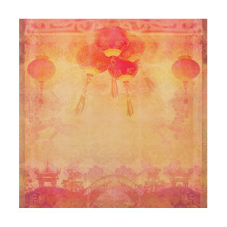 Chinese New Year wood canvas