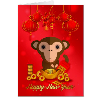 Chinese New Year, Year Of The Monkey Card
