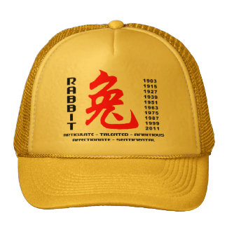 Chinese New Years of The Rabbit Gift Hats