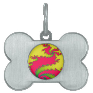 Chinese New Yer Dragon Fractal Pet Tag