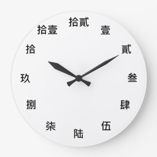 Chinese Numeral Character (Black font) Wall Clock