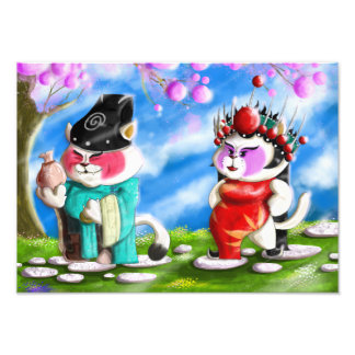 Chinese Opera Cats Photo Print