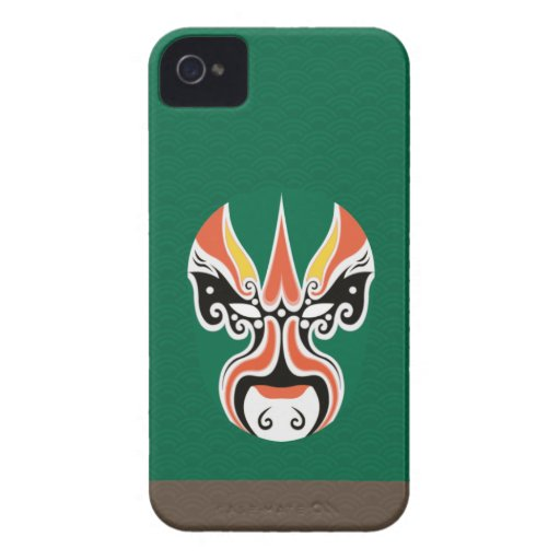 Chinese Opera Make Up Iphone Case 2 - Green Case-Mate iPhone 4 Case