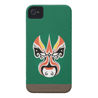 Chinese Opera Make Up Iphone Case 2 - Green iPhone 4 Case-Mate Case