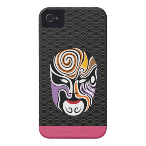 Chinese Opera Make Up Iphone Case 3 (Black) iPhone 4 Case-Mate Cases