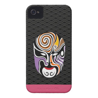 Chinese Opera Make Up Iphone Case 3 (Black) iPhone 4 Cases