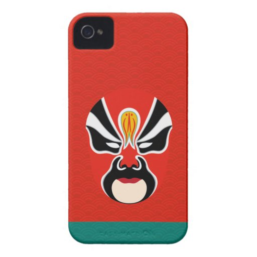 Chinese Opera Make Up Iphone Case 5 (Red) iPhone 4 Cases