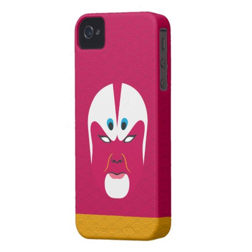 Chinese Opera Make Up Iphone Case - Red iPhone 4 Covers