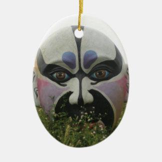 Chinese opera mask, Chiayi, Taiwan Ceramic Oval Decoration