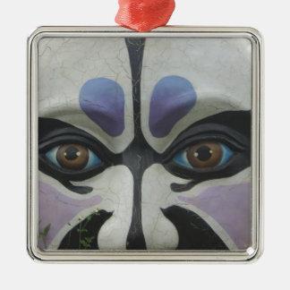 Chinese opera mask, Chiayi, Taiwan Christmas Ornament