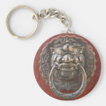 Chinese ornament basic round button key ring