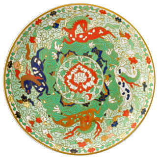 Chinese Ornamental Design Porcelain Plate