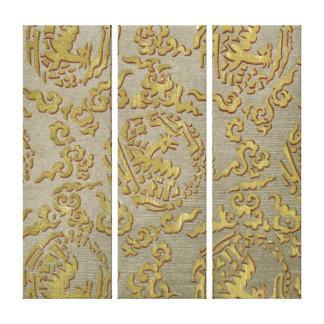 Chinese ornamental textile pattern canvas print