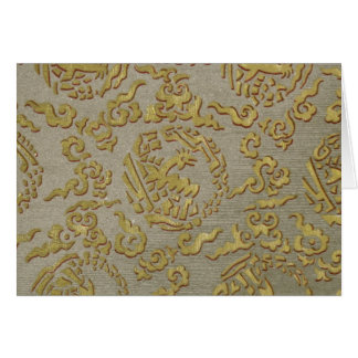 Chinese ornamental textile pattern card