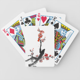 Chinese painting of flowers, plum blossom poker deck