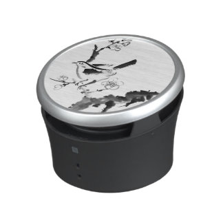 Chinese painting , plum blossom and bird bluetooth speaker