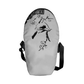 Chinese painting , plum blossom and bird courier bags