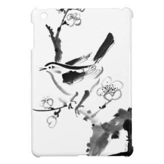 Chinese painting , plum blossom and bird cover for the iPad mini