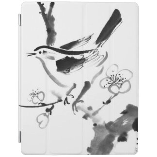 Chinese painting , plum blossom and bird iPad smart cover