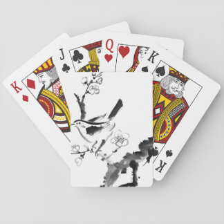 Chinese painting , plum blossom and bird playing cards