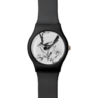 Chinese painting , plum blossom and bird wristwatches