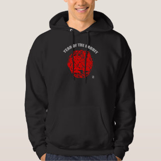 Chinese Paper Cut Year of The Rabbit Hoodie