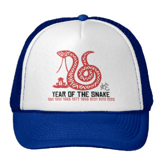 Chinese Paper Cut Year of The Snake Mesh Hat