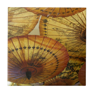 Chinese Paper Parasol Umbrella Accent Tile