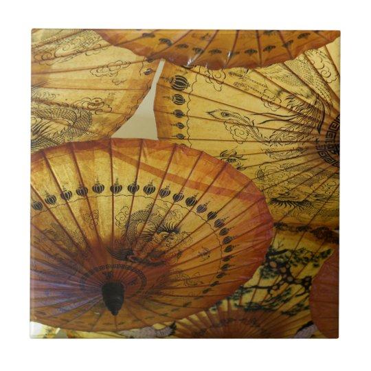 Chinese Paper Parasol Umbrella Accent Tile