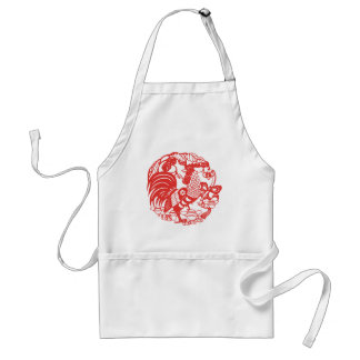 Chinese Papercut Rooster Year 2017 Apron
