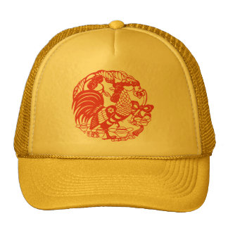Chinese Papercut Rooster Year 2017 Hat