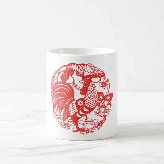 Chinese Papercut Rooster Year 2017 Mug 2