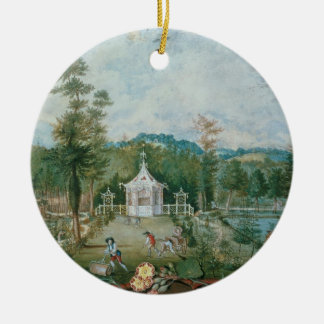 Chinese Pavilion in an English Garden, 18th centur Christmas Ornament