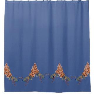 Chinese Peacock Birds Animals Shower Curtain